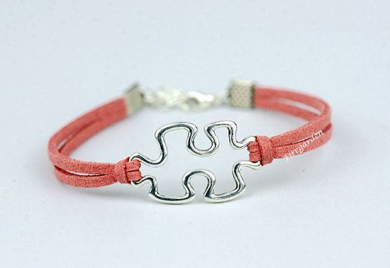 Puzzle Charm Bracelet Friendship Autism Awareness